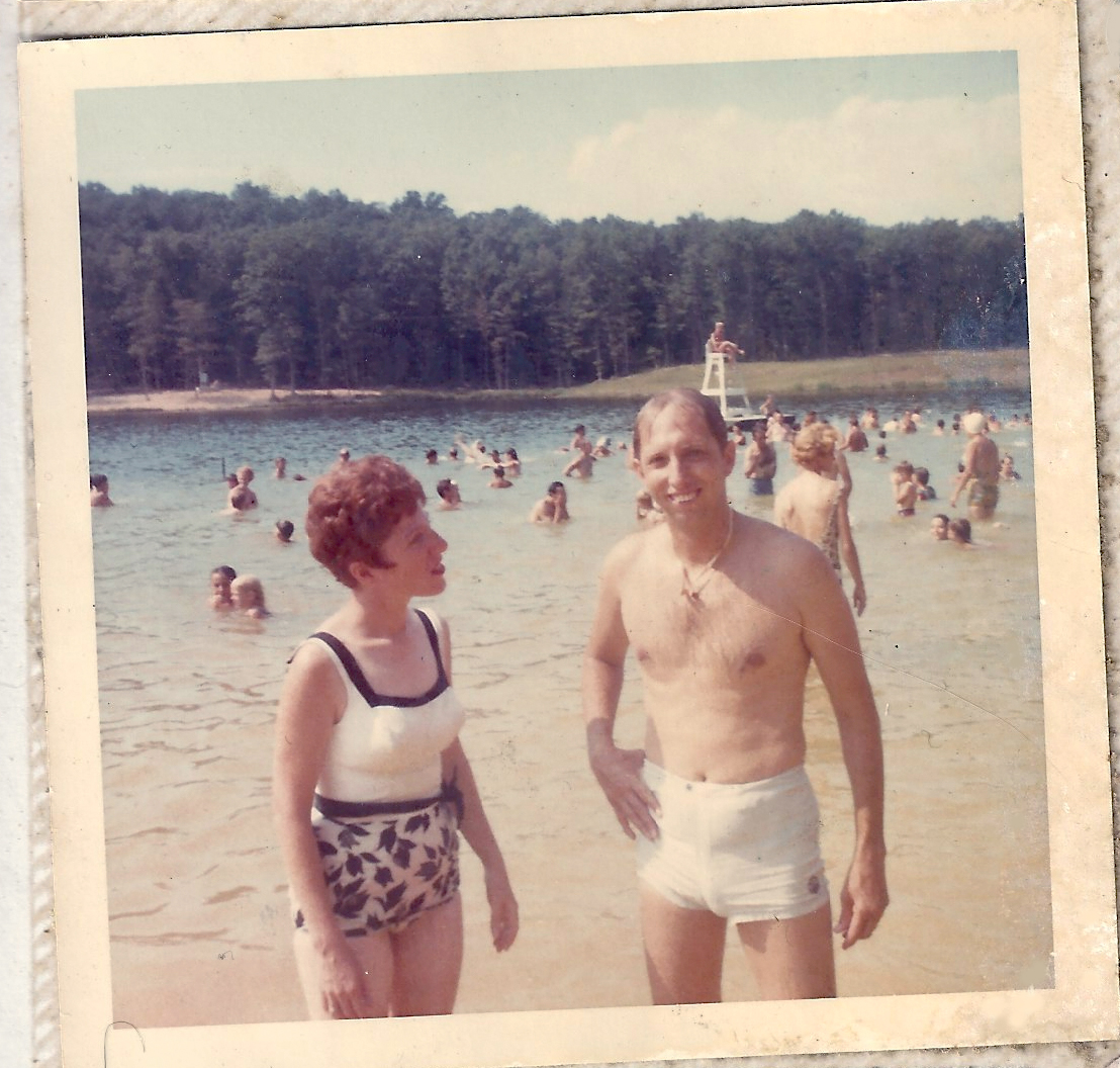 Mom and dad at the beach circa 1970.  Thanks for the skinny genes!